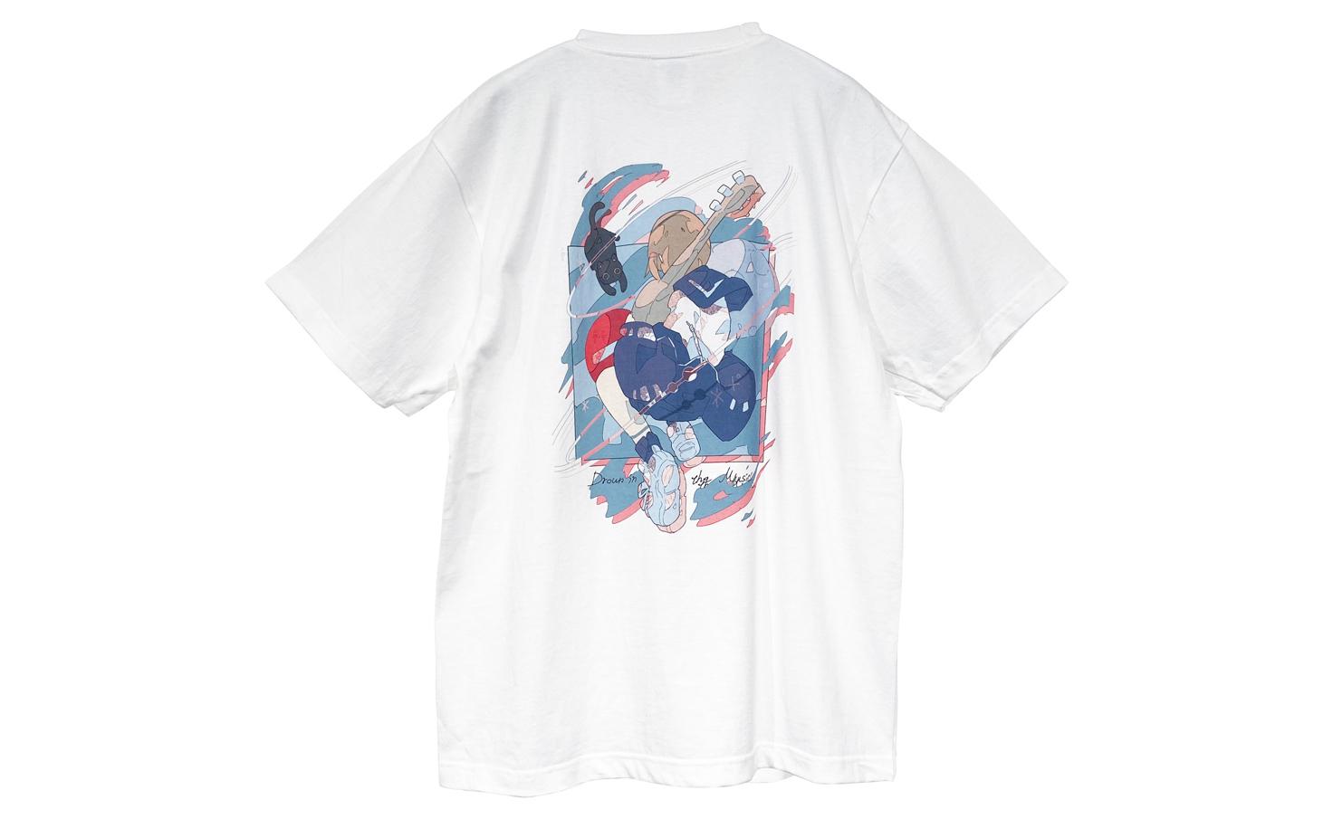音楽に溺れる_White_Tシャツ