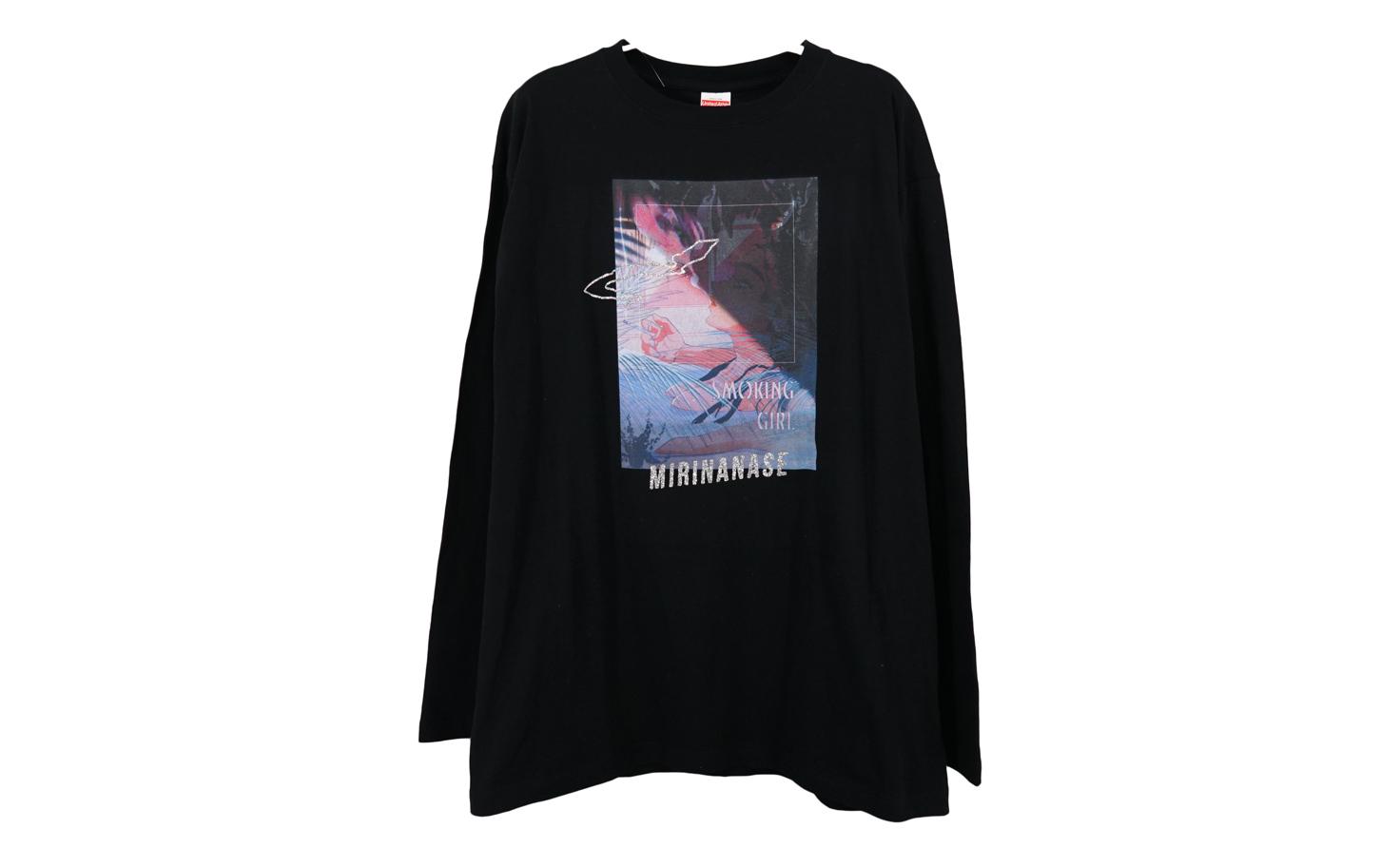 『SMOKING GIRL』 ロングスリーブTシャツ(ブラック)