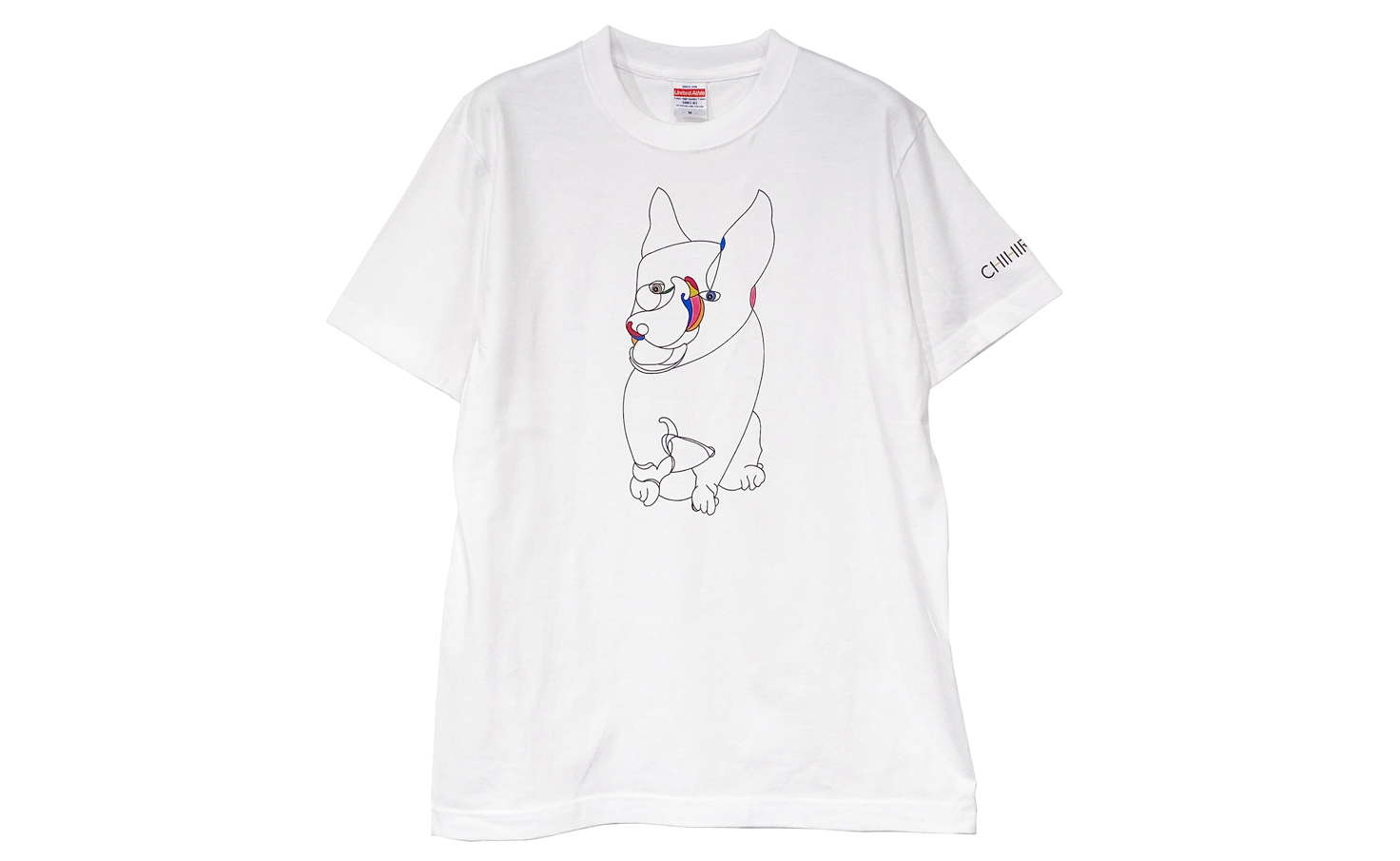 Tシャツ_smile dog_A(White)