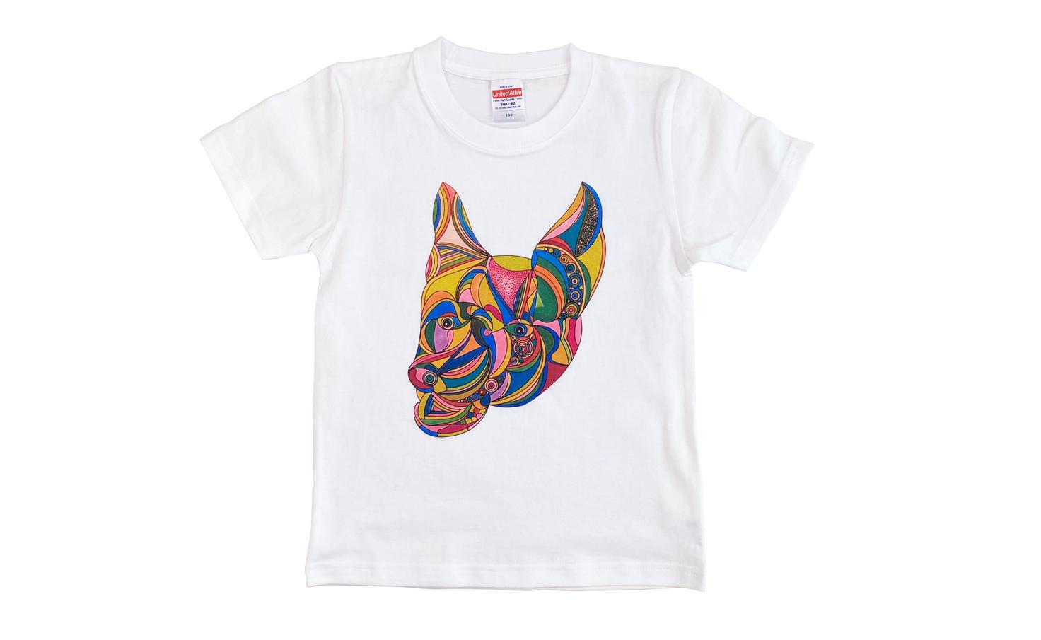 キッズTシャツ_smile dog (White)