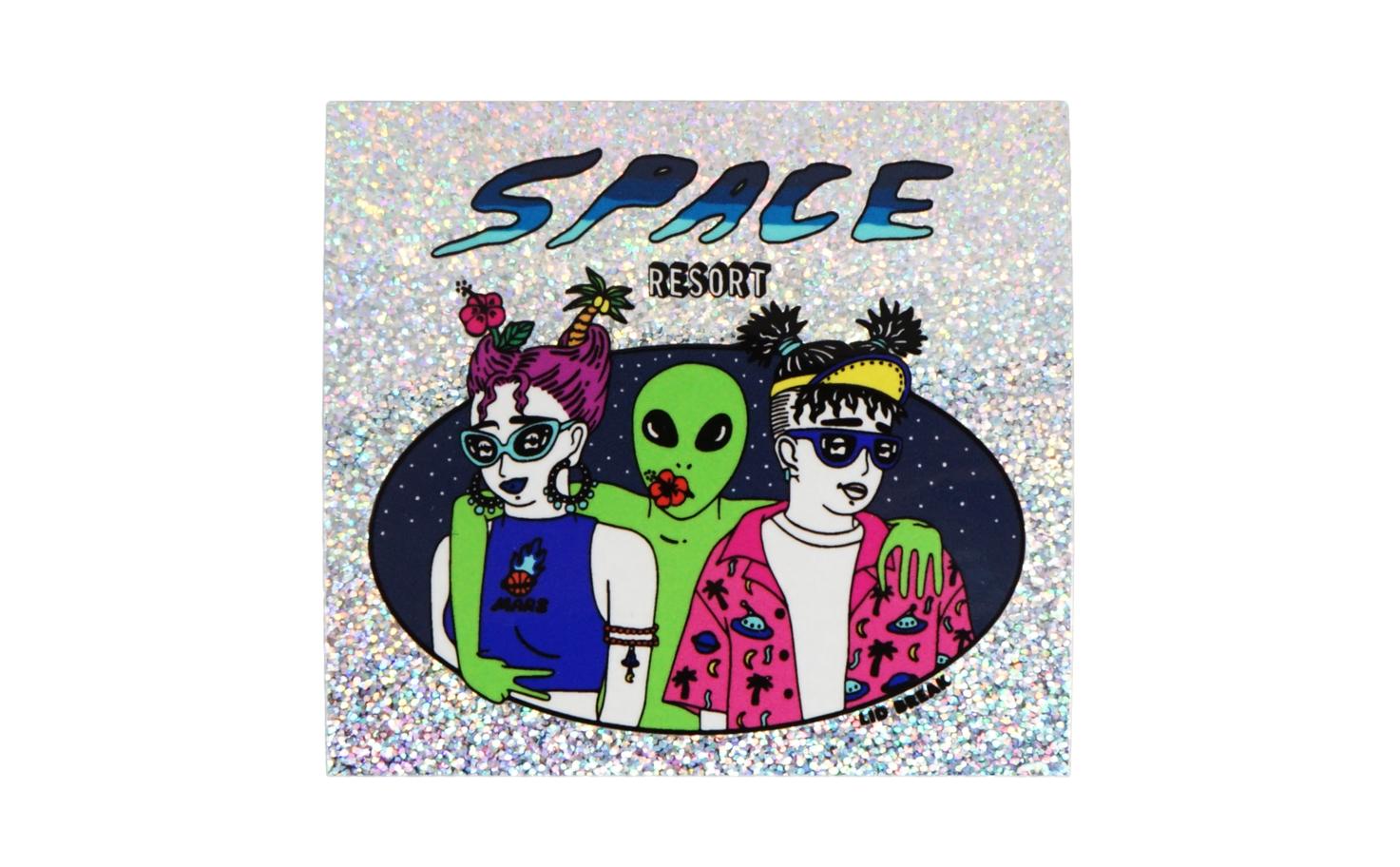 シングルステッカー/spaceホログラム