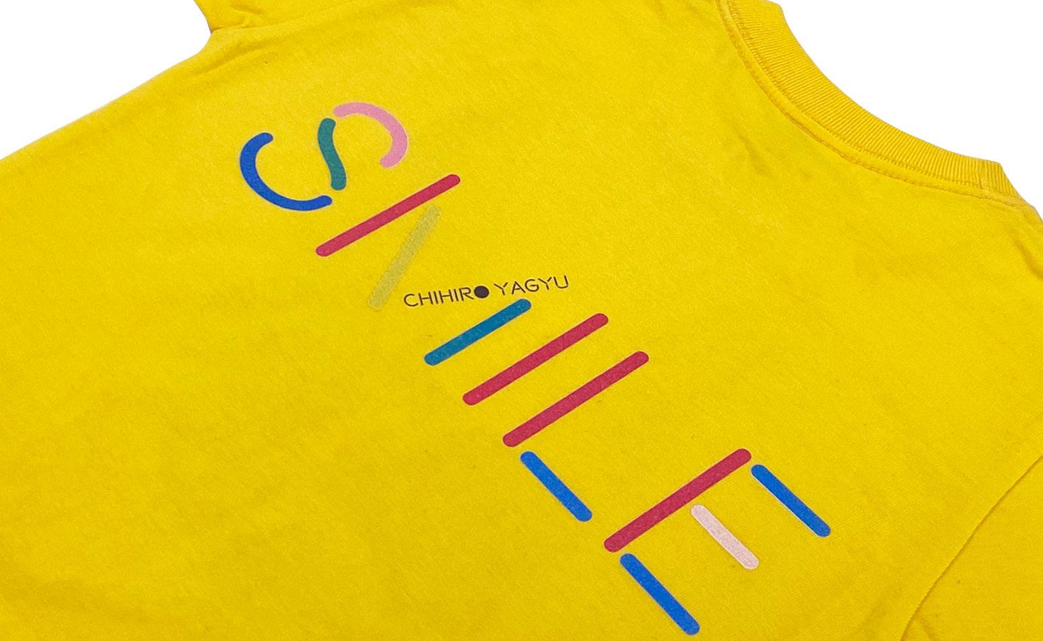 キッズTシャツ_smile dog (Yellow)
