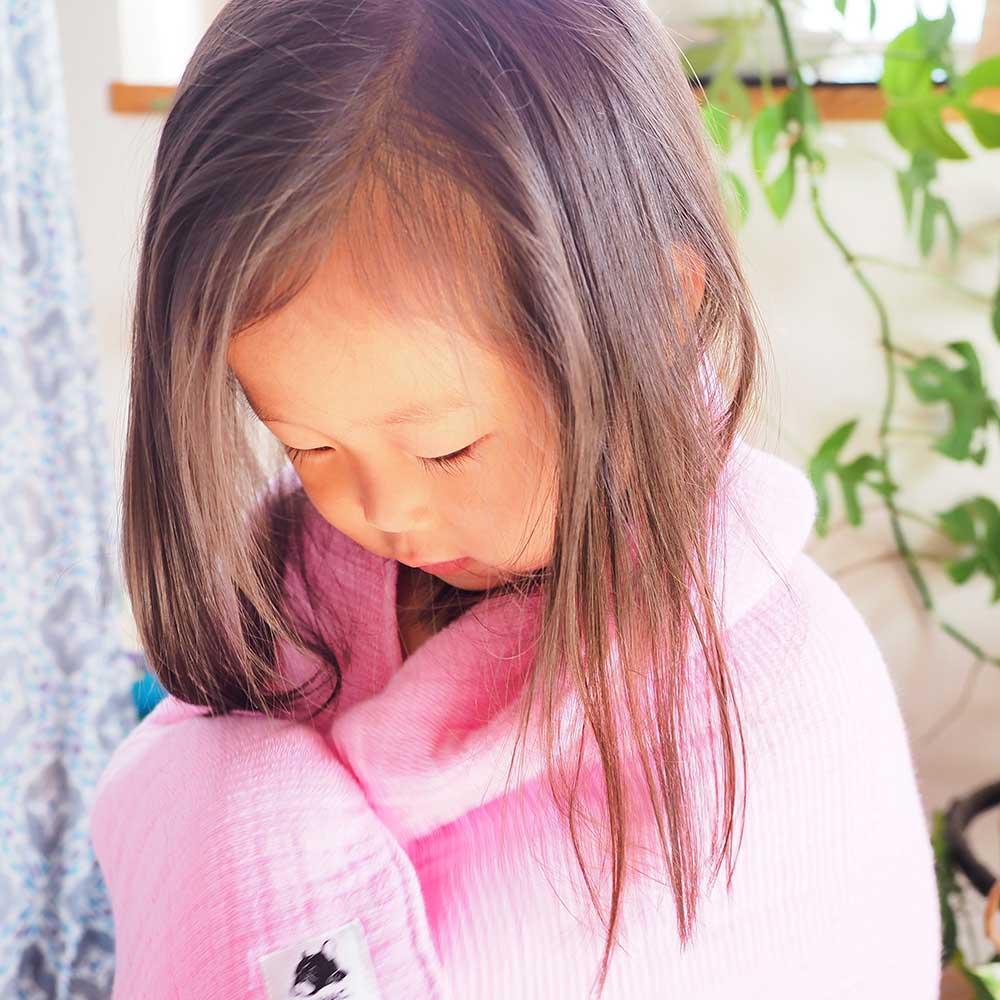 CoHAC. インナーパイル バスタオル 限定色ピンク