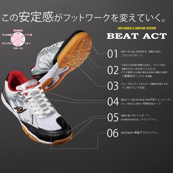ニッタク(Nittaku) NS4433 01 卓球 シューズ BEAT ACT ビートアクト 19SS