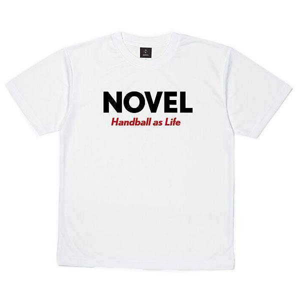 ノベル(NOVEL) NOVELHS  11H ハンドボール DRY  Tシャツ  STD003  WHITE 21SS