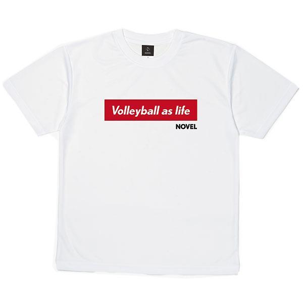 ノベル(NOVEL) NOVELHS  09V バレーボール DRY  Tシャツ  STD002  WHITE 21SS