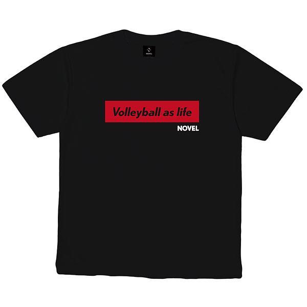 ノベル(NOVEL) NOVELHS  10V バレーボール DRY  Tシャツ  STD002  BLACK 21SS