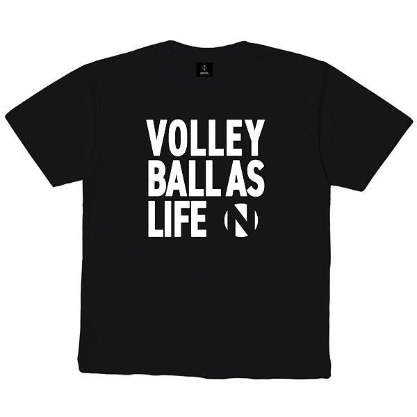 ノベル(NOVEL) NOVELHS  16V バレーボール DRY  Tシャツ  STD005  BLACK 21SS