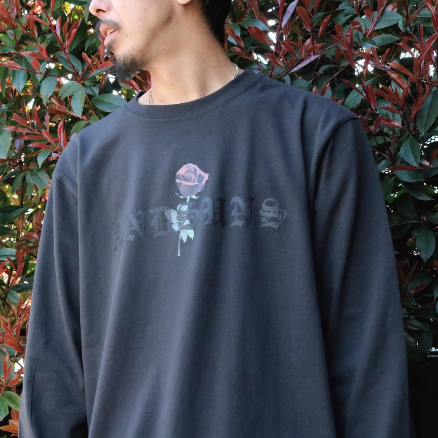 ROSE LS TEE (INK BLACK)