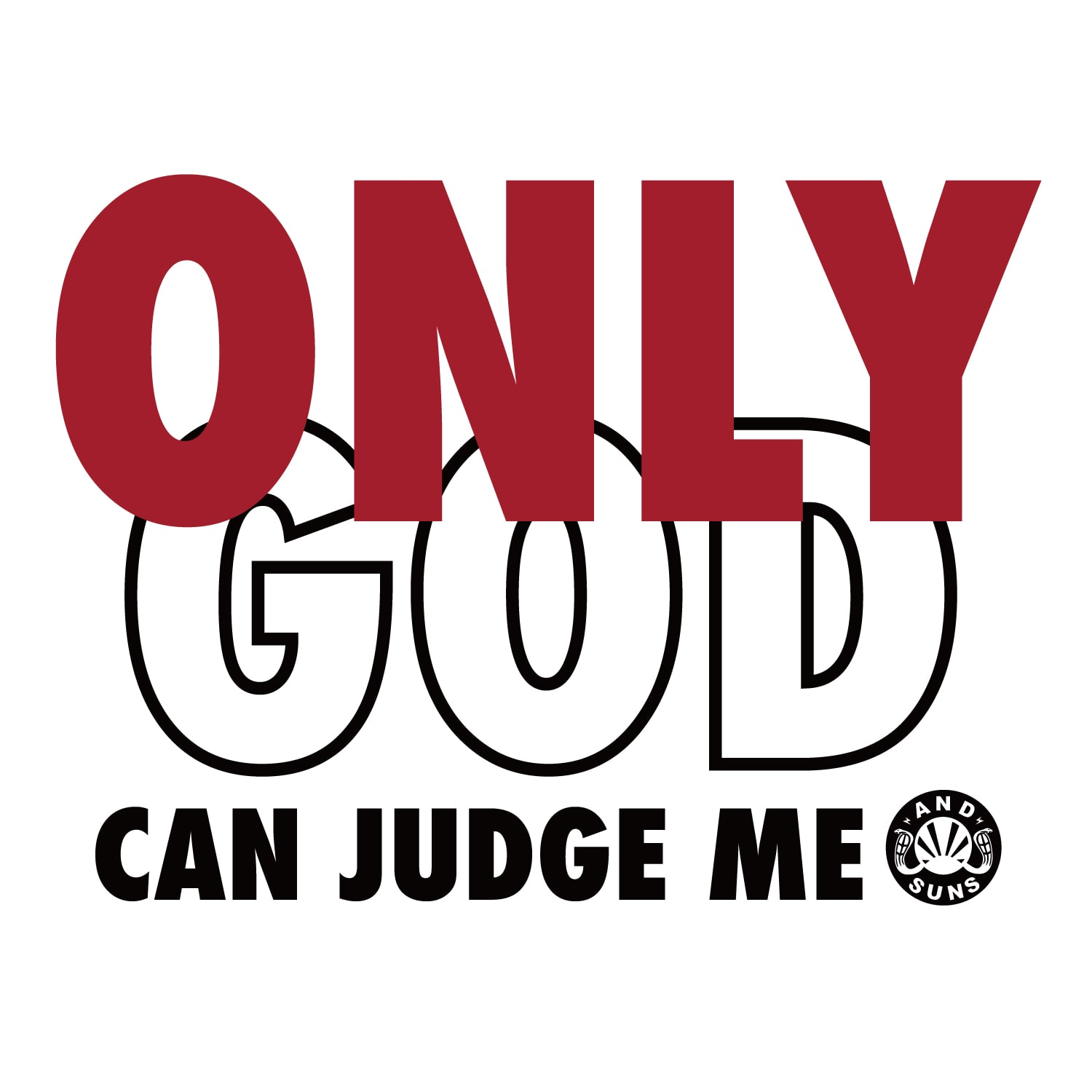 ONLY GOD LS TEE 2 (BLACK)