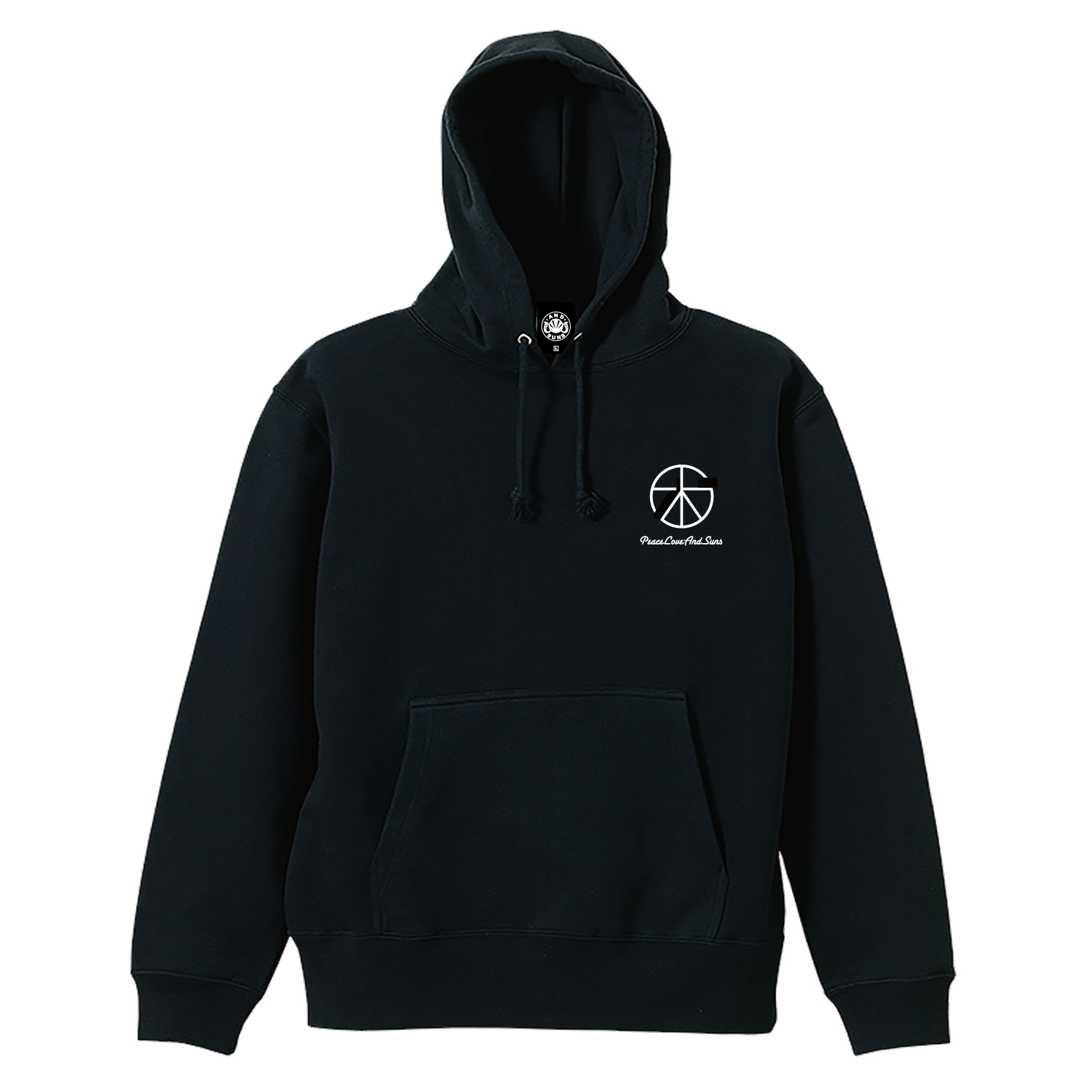 PEACE LOVE PULLOVER (BLACK)