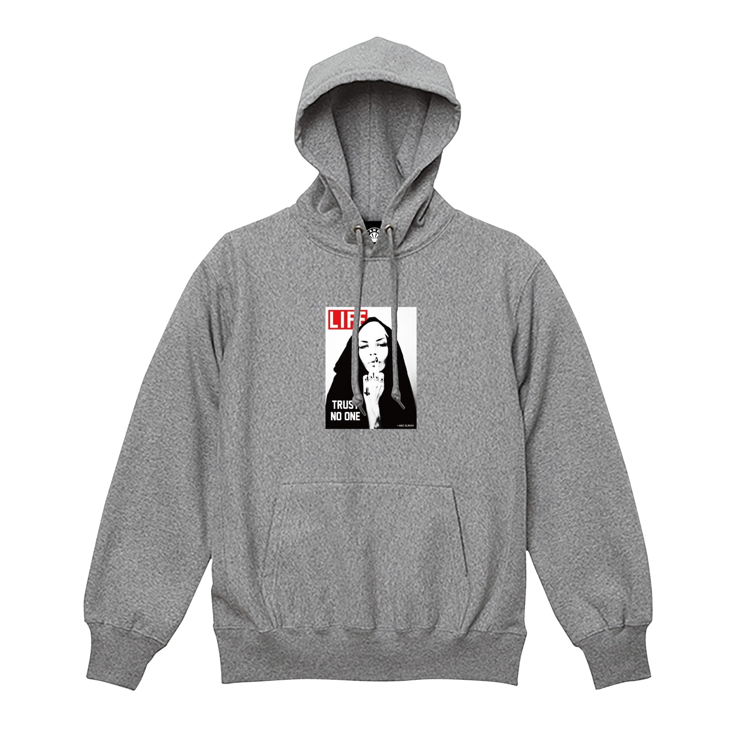 TRUST NO ONE PULLOVER (GREY)