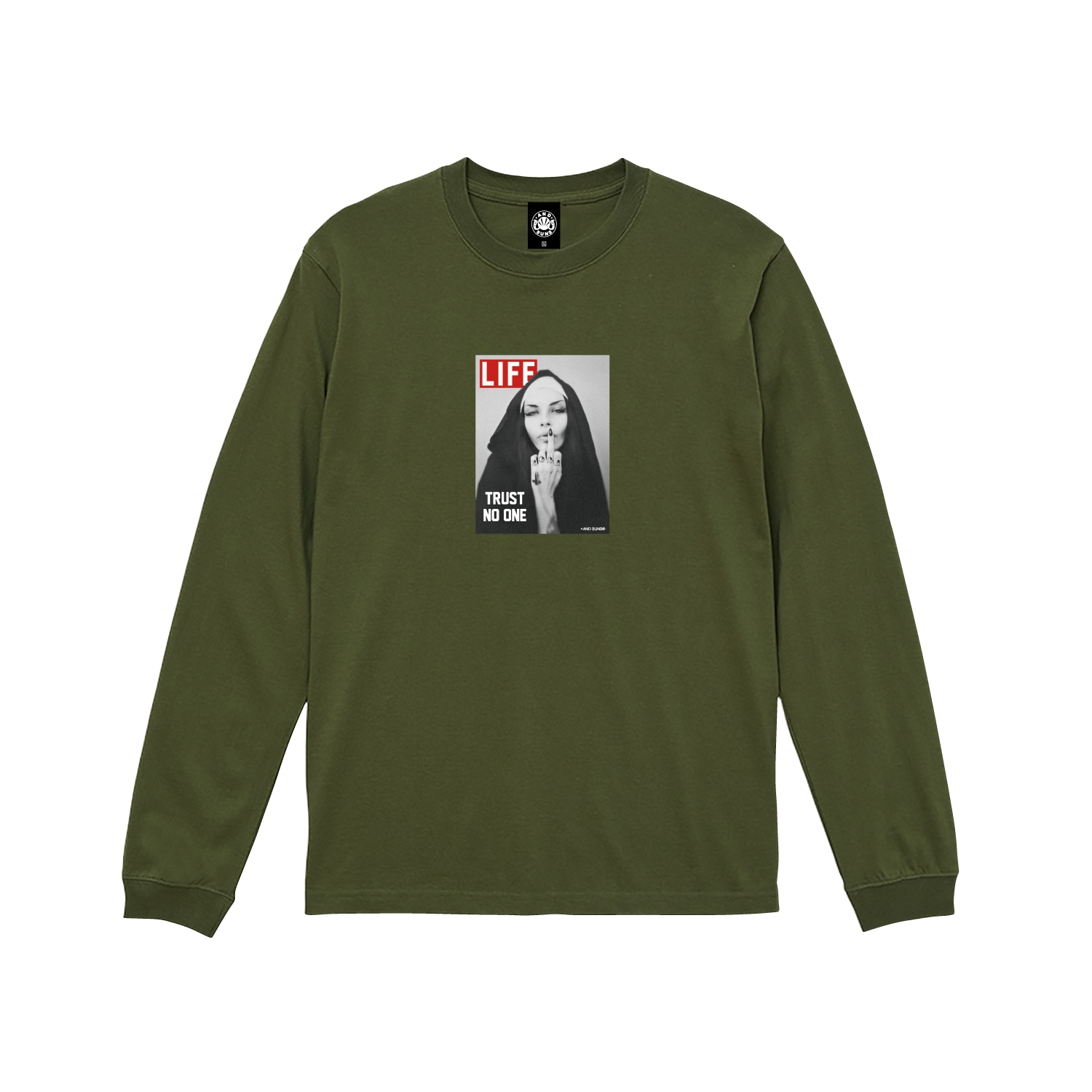 TRUST NO ONE LS TEE (OLIVE)