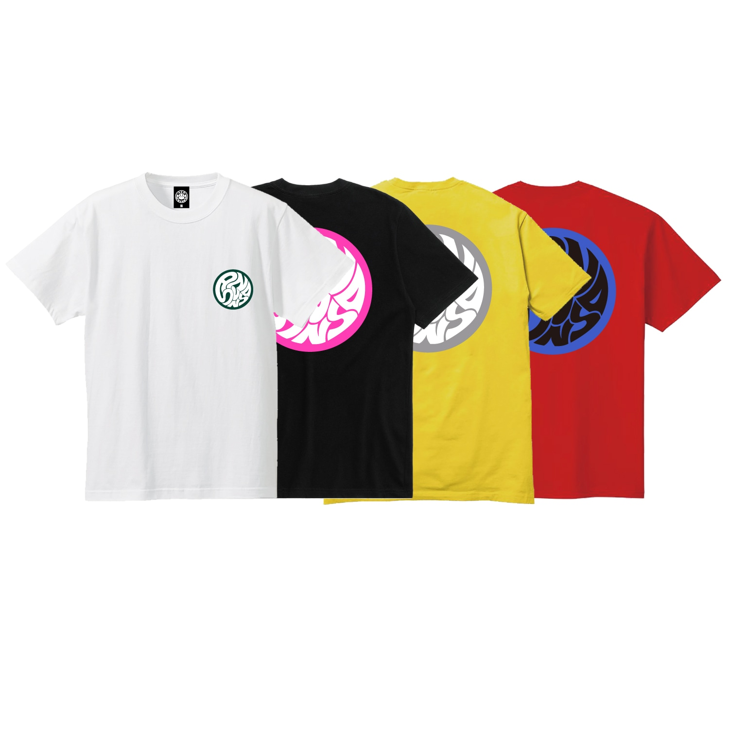 SWIRLING SUNS SS TEE (WHITE)