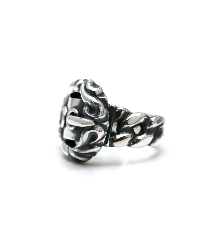 ArgentGleam Classic Arabesque Belt Ring