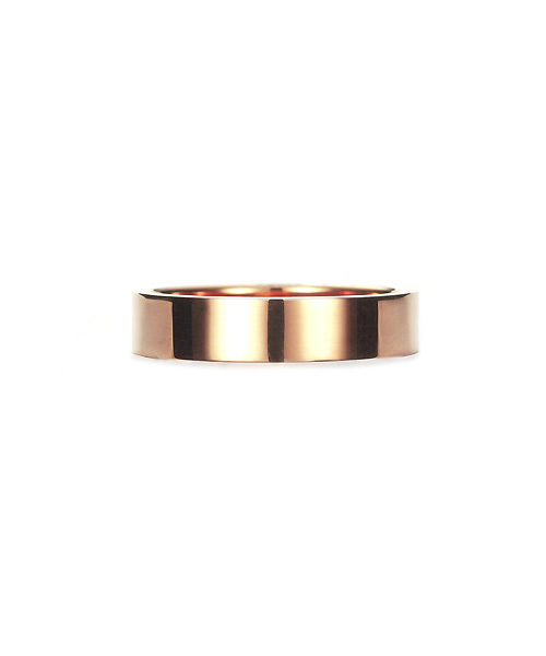 Square Band Ring K18PG 幅4.5mm