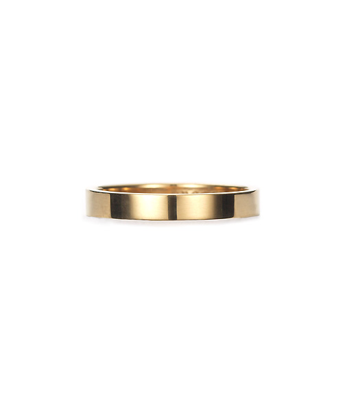 Square Band Ring K18YG 幅3.5mm