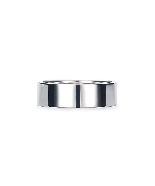 Square Band Ring K18WG 幅6.5mm