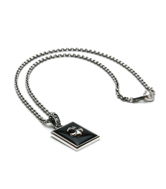 Square Onyx Necklace/ Lily