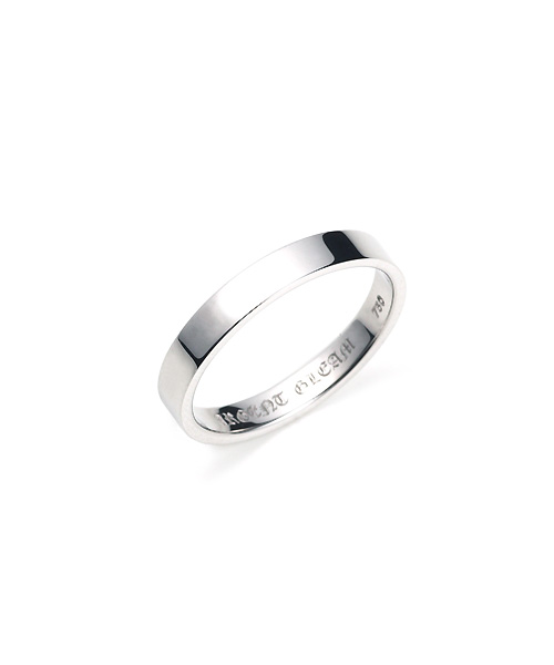 Square Band Ring K18WG 幅3.5mm