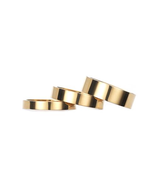 Square Band Ring K18YG 幅4.5mm