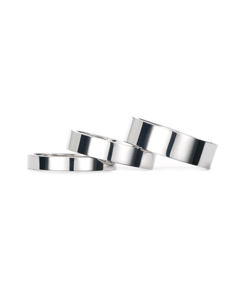Square Band Ring K18WG 幅4.5mm