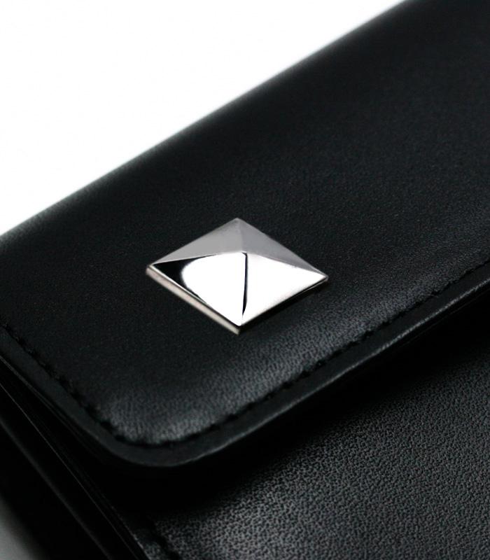 ARGENT GLEAM Wallet  / ピラミッドボタン