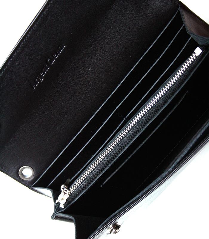 ArgentGleam Classic Wallet / フラワーボタン