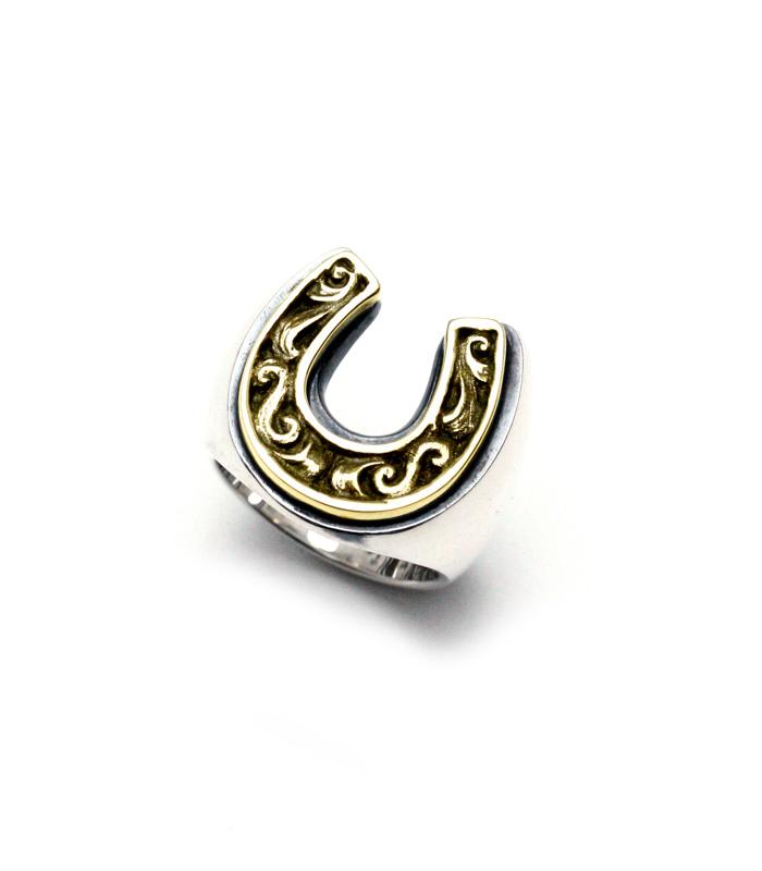 ARGENT GLEAM HORSE SHOE RING Large(シルバー/ブラス)