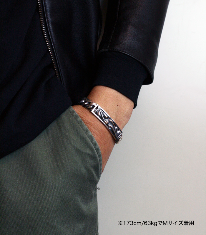 ArgentGleam Classic FLORAL ID BRACELET / Narrow