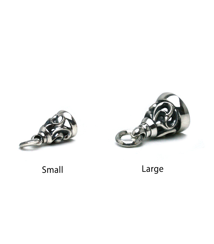 ArgentGleam Classic Arabesque Bell Charm / Small