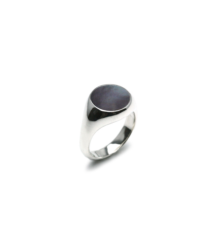 Black Mother of Pearl Ring