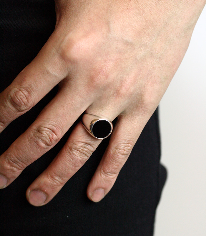 Onyx Plate Ring / Large