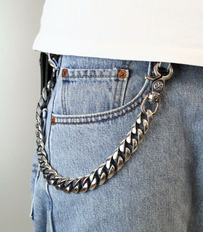 ArgentGleam Classic DoubleClip Wide Walletchain