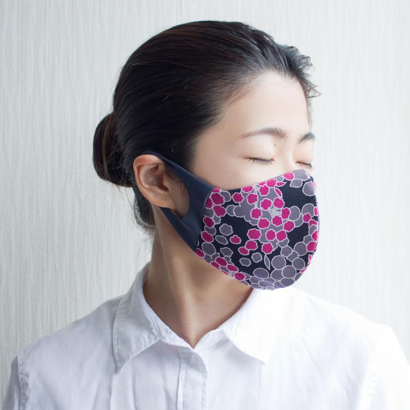 おしゃれ布マスク(フローラルメッシュ)【日本製】UVカット