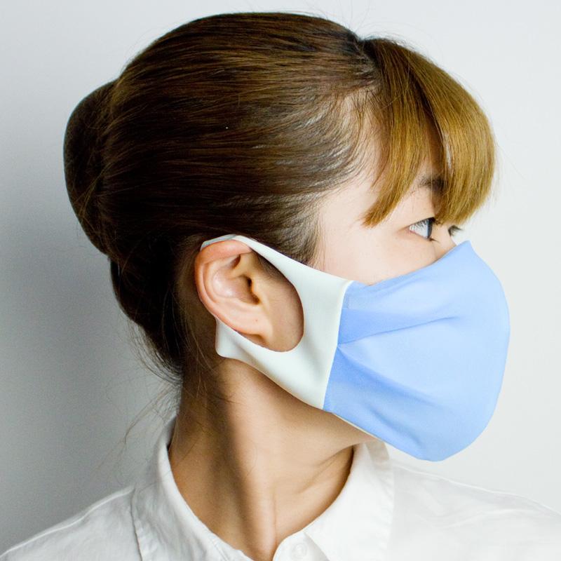 おしゃれ布マスク(シフォン)【日本製】 UVカット