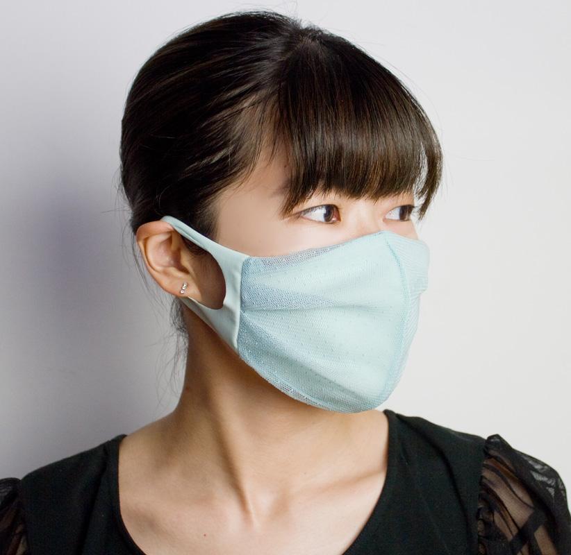 おしゃれ布マスク05 (ドットレース)【日本製】 UVカット