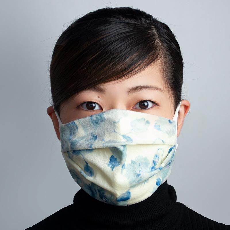 おしゃれ布マスク09(フローラルベロア)
