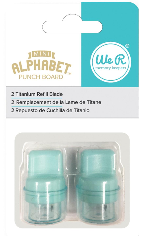 We R - 663005 Mini Alphabet Punch Board Blade Refill 替刃
