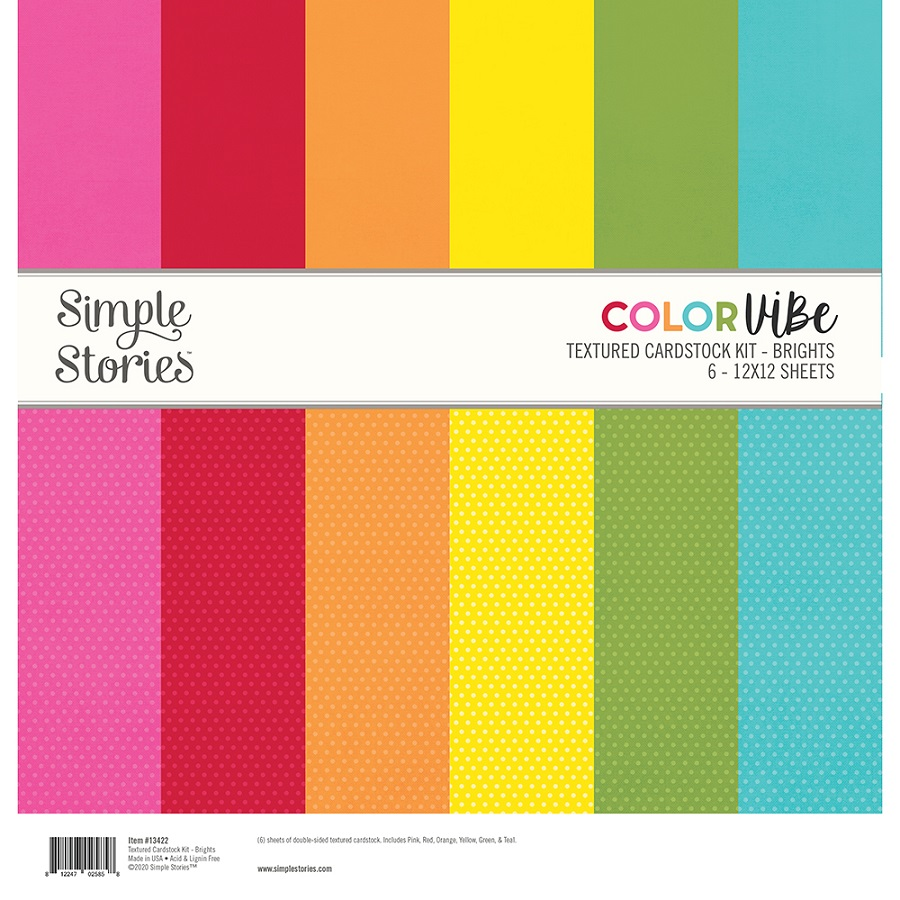 Simple Stories Color Vibe Paper Pack 12×12 - 13422 Brights