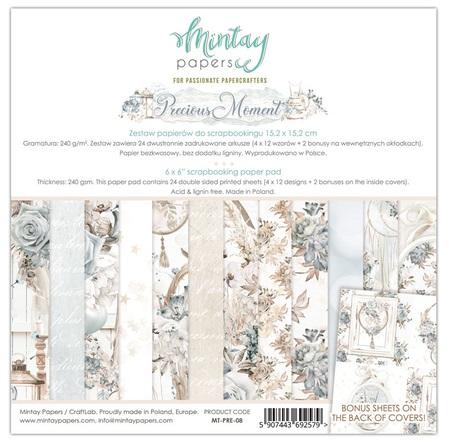 Mintay 6 x 6 Paper Set - MT-PRE-08 Precious Moment
