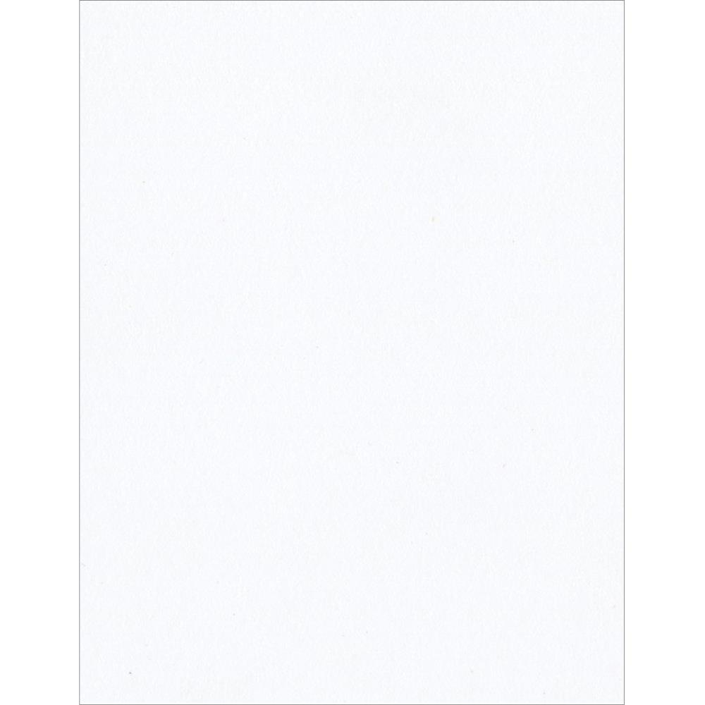 Bazzill Basics Classic Smooth Cardstock - White  8.5x11 (303722)