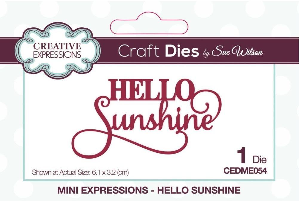 Creative Expressions Die - CEDME054 Mini Expressions- Hello Sunshine