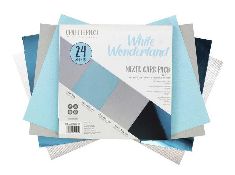 Tonic Studios Craft Perfect Mixed Card Pack - 9403E White Wonderland
