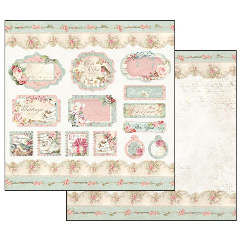 Stamperia Paper Pad 12×12 - SBBL73 Pink Christmas