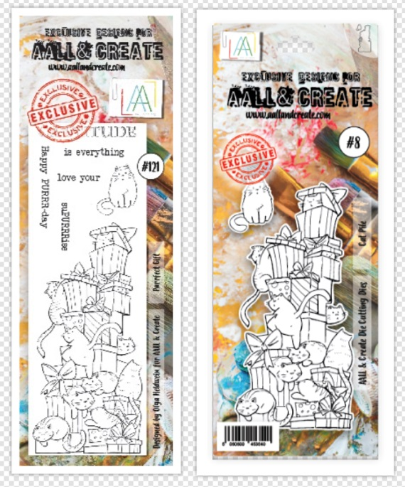 AALL & Create セット♪ - Die #8 and Stamp #121
