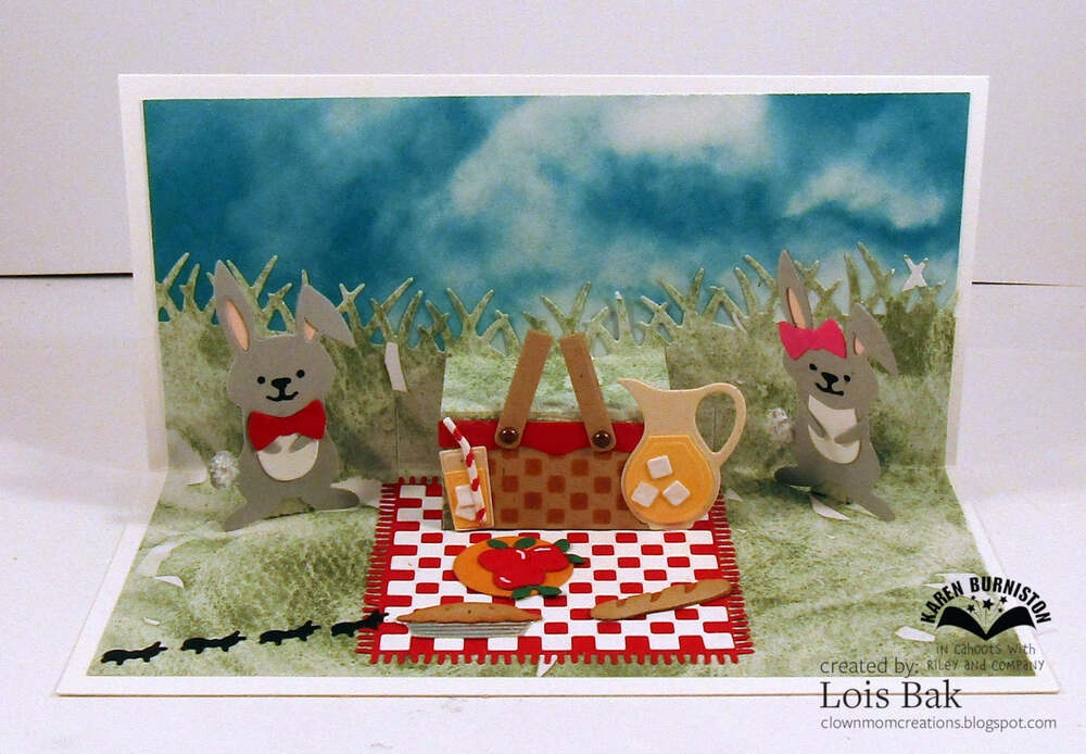 Karen Burniston Die - 1159 Picnic Elements