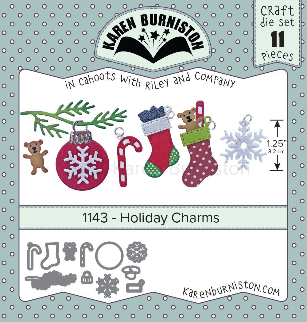 Karen Burniston Die - 1143 Holiday Charms