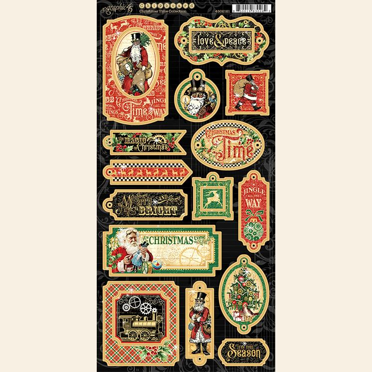 Graphic 45 4502121 Christmas Time - Chipboard