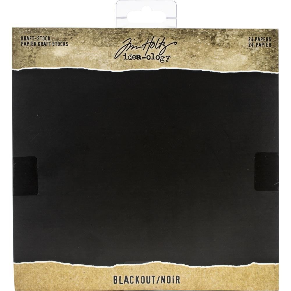Tim Holtz  Idea-Ology - TH94020 Kraft-Stock Paper Pad 8×8 Blackout